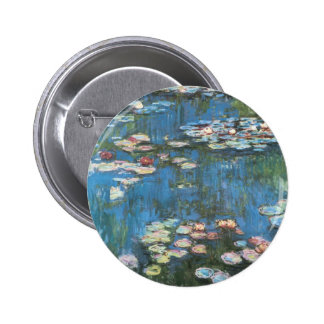 Wasserlilien durch Claude Monet, Vintager Runder Button 5,1 Cm