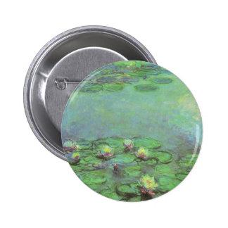 Wasserlilien durch Claude Monet, Vintager Runder Button 5,7 Cm