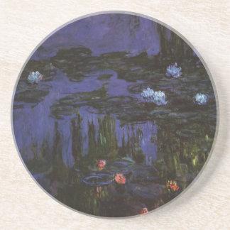 Wasserlilien durch Claude Monet, Vintager Sandstein Untersetzer
