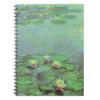 Wasserlilien durch Claude Monet, Vintager Spiral Notizblock
