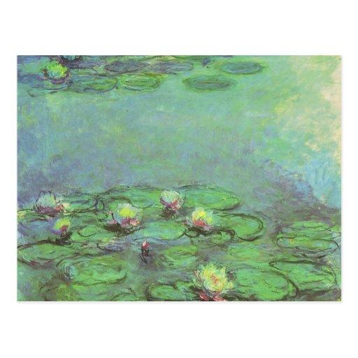 Wasserlilien durch Monet, Vintager Postkarten