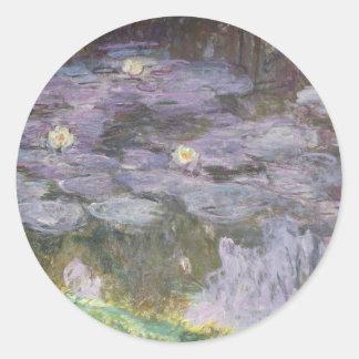 Wasserlilien Runder Aufkleber