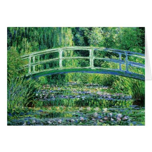 Wasserlilien und japanische Brücke, Karte Claudes