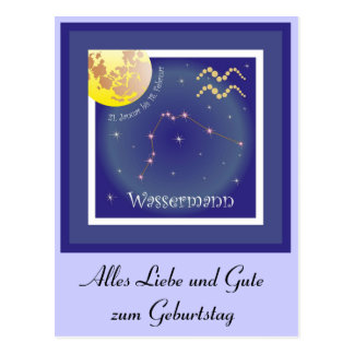 Wassermann 21. Januar bis 18. Februar Postkarte