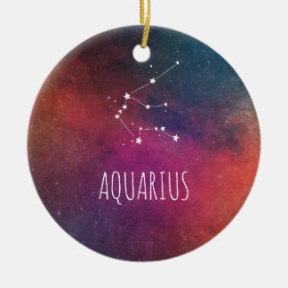 Wassermann-Astrologie Keramik Ornament