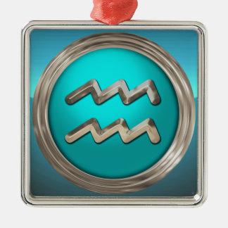 Wassermann-astrologisches Zeichen Silbernes Ornament