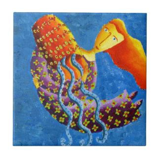 Wassermann-Horoskop-Tierkreis-Stern-Zeichen Kleine Quadratische Fliese