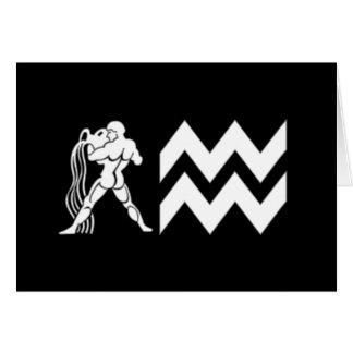 Wassermann mit Symbol Karte