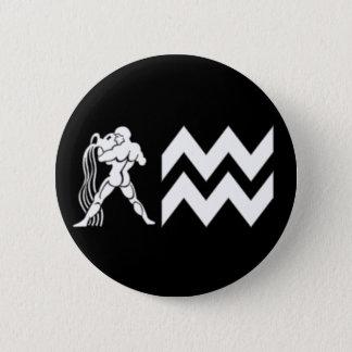 Wassermann mit Symbol Runder Button 5,7 Cm