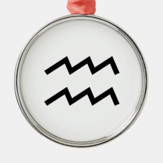 Wassermann Silbernes Ornament