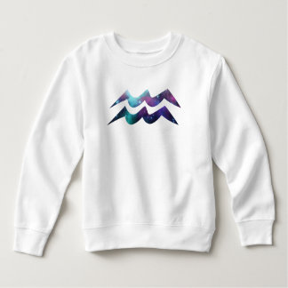 Wassermann-Symbol-Kleinkind-Fleece-Sweatshirt Sweatshirt