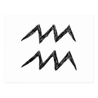 Wassermann. Tierkreis-Astrologie-Zeichen. Postkarten