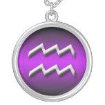 Wassermann-Tierkreis-lila Steigung ~ Halskette