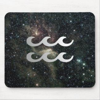 Wassermann-Tierkreis-Stern-Zeichen-Universum Mousepads