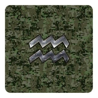 Wassermann-Tierkreis-Symbol auf digitaler Quadratische 13,3 Cm Einladungskarte