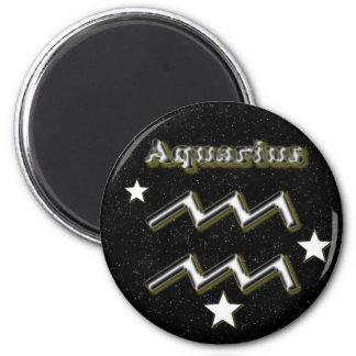 Wassermannsymbol Runder Magnet 5,7 Cm