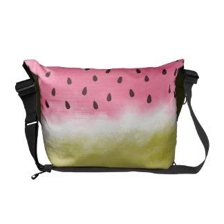 Wassermelone-Aquarellmuster Kuriertasche