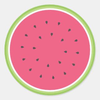Wassermelone-Aufkleber Runder Aufkleber