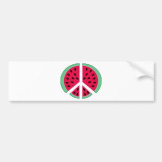 Wassermelone des Friedens Autoaufkleber
