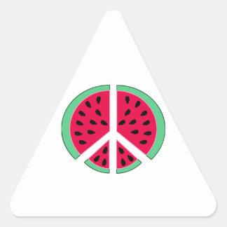 Wassermelone des Friedens Dreieckiger Aufkleber
