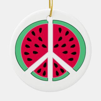 Wassermelone des Friedens Keramik Ornament