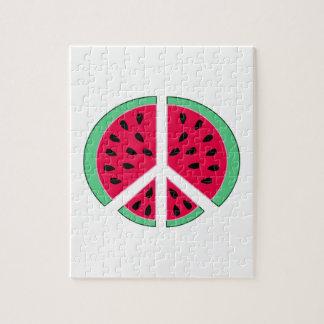 Wassermelone des Friedens Puzzle