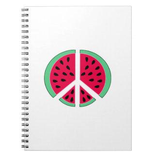Wassermelone des Friedens Spiral Notizblock