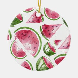 Wassermelone-Druck-Aquarell Keramik Ornament