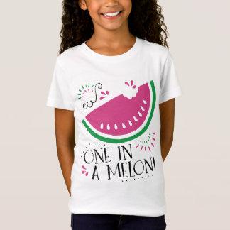 Wassermelone eine in einem Melone-T - Shirt
