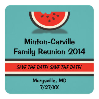 Wassermelone-Familien-Wiedersehen Save the Date Karte
