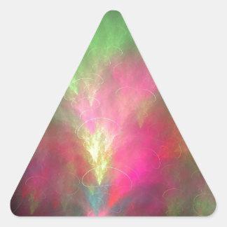 Wassermelone-Fraktal Dreieckiger Aufkleber