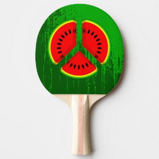 Wassermelone-Friedensvibrierende Farben Tischtennis Schläger