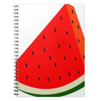 Wassermelone-Fruchternte-Scheibesommer Notizblock