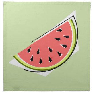 Wassermelone-grüner Scheibeserviettenstoff Serviette