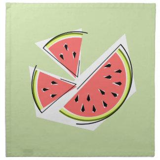 Wassermelone-grüner Stückserviettenstoff Stoffserviette