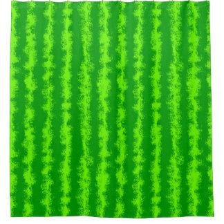 Wassermelone-grünes Rinde-Sommer-Frucht-Muster Duschvorhang