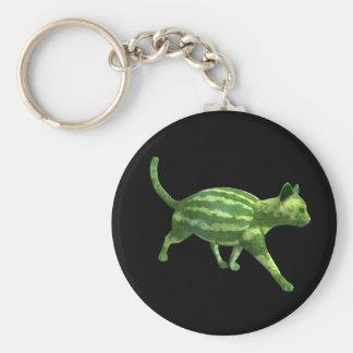 Wassermelone-Katze Schlüsselanhänger