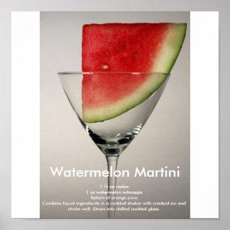 Wassermelone Martini Poster