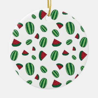 Wassermelone-Muster Keramik Ornament