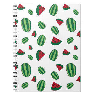 Wassermelone-Muster Notizblock