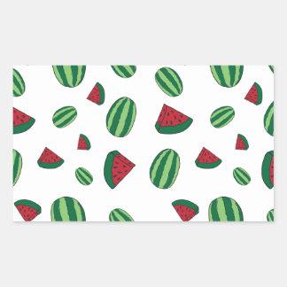 Wassermelone-Muster Rechteckiger Aufkleber