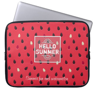 Wassermelone-Muster, Sommerzeit | personalisiert Laptopschutzhülle
