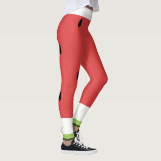 Wassermelone-Muster-Yoga-/Trainings-Gamaschen Leggings