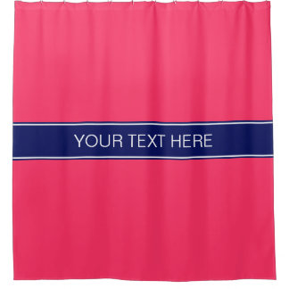 Wassermelone-rosa Marine-blaues Duschvorhang