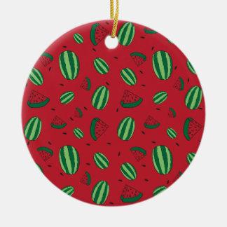 Wassermelone-Rot-Muster Keramik Ornament