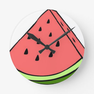 Wassermelone Runde Wanduhr
