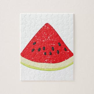 Wassermelone-Scheibe Puzzle