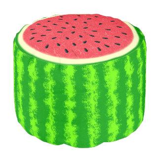 Wassermelone-Scheibe-Sommer-Frucht mit Rinde Hocker