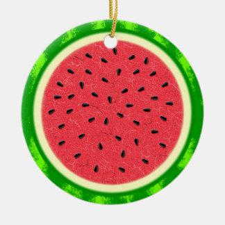 Wassermelone-Scheibe-Sommer-Frucht mit Rinde Keramik Ornament