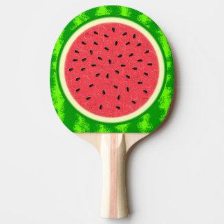 Wassermelone-Scheibe-Sommer-Frucht mit Rinde Tischtennis Schläger